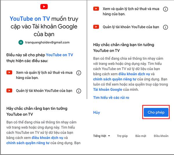 Hướng dẫn đăng nhập YouTube trên Smart Tivi (3)