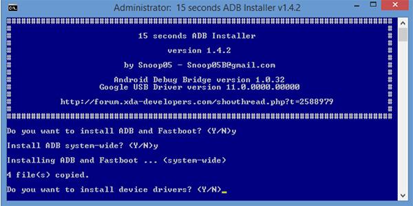 Mở khóa Android sử dụng tiện ích Android Debug Bridge (ADB)