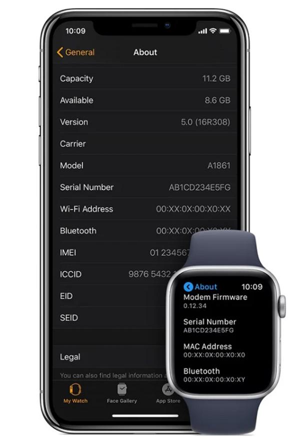 Kiểm tra Serial Apple Watch bằng iPhone kết nối