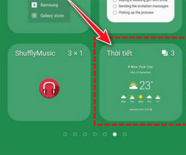 Cách cài đặt hiển thị thời tiết trên màn hình khóa Android (1)