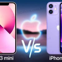 Màn hình iPhone 13 mini có phần tai thỏ nhỏ hơn iPhone 12 mini.